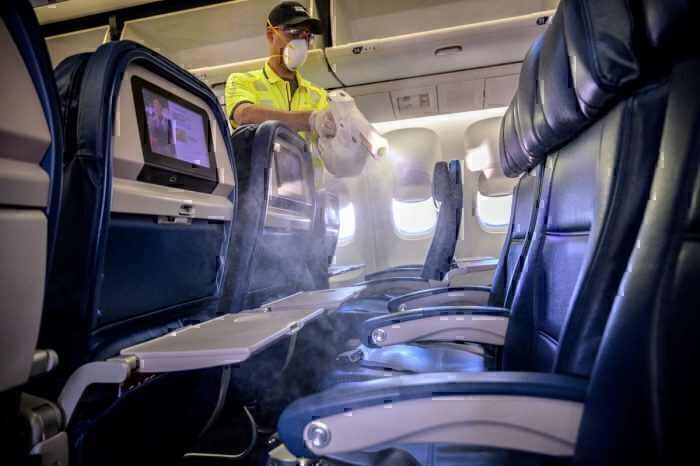 Delta aircraft fogging