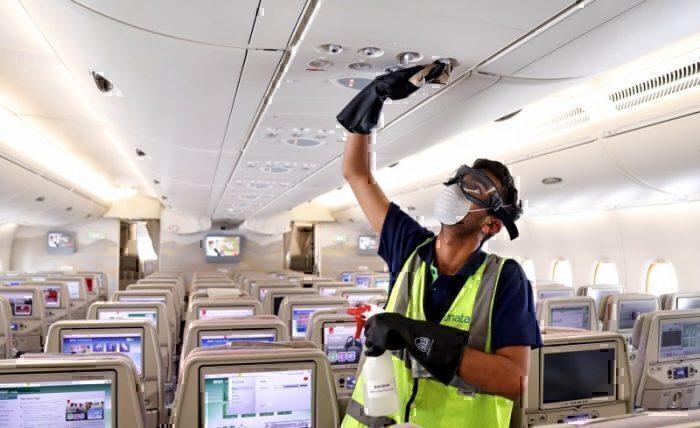 Emirates aircraft disinfection coronavirus