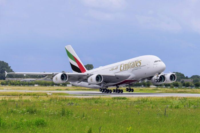 Emirates Airbus A380 Takeoff