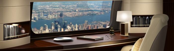 Boeing Skyview window