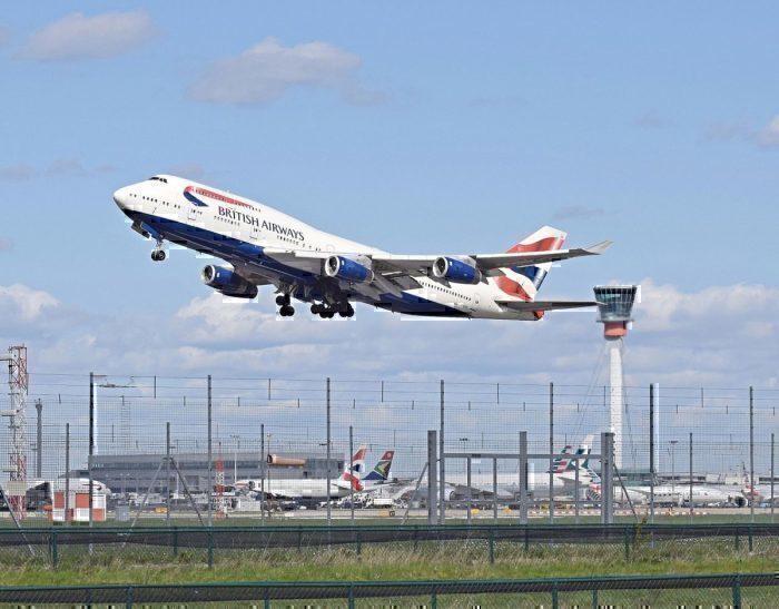 British Airways Boeing 747-400 at Heathrow Airport
