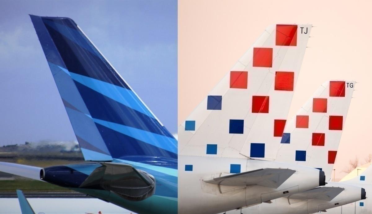 Croatia Airlines Garuda Indonesia Liveries