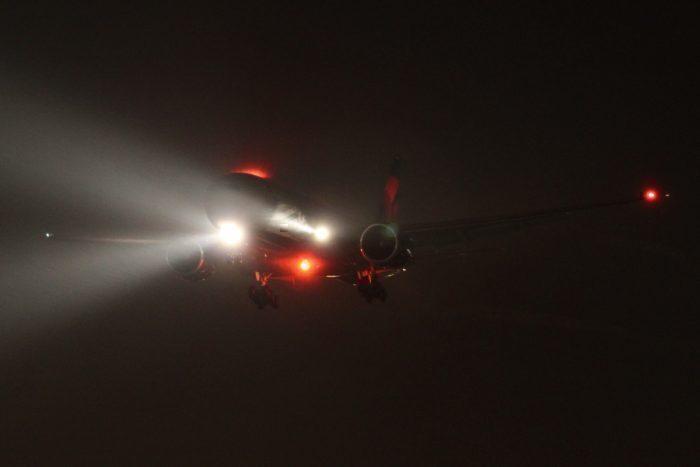 Landing lights on 777