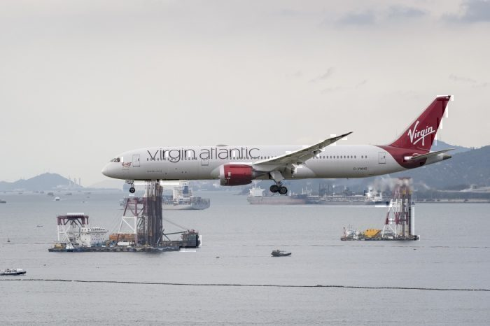 Virgin Atlantic 787-9 in Hong Kong