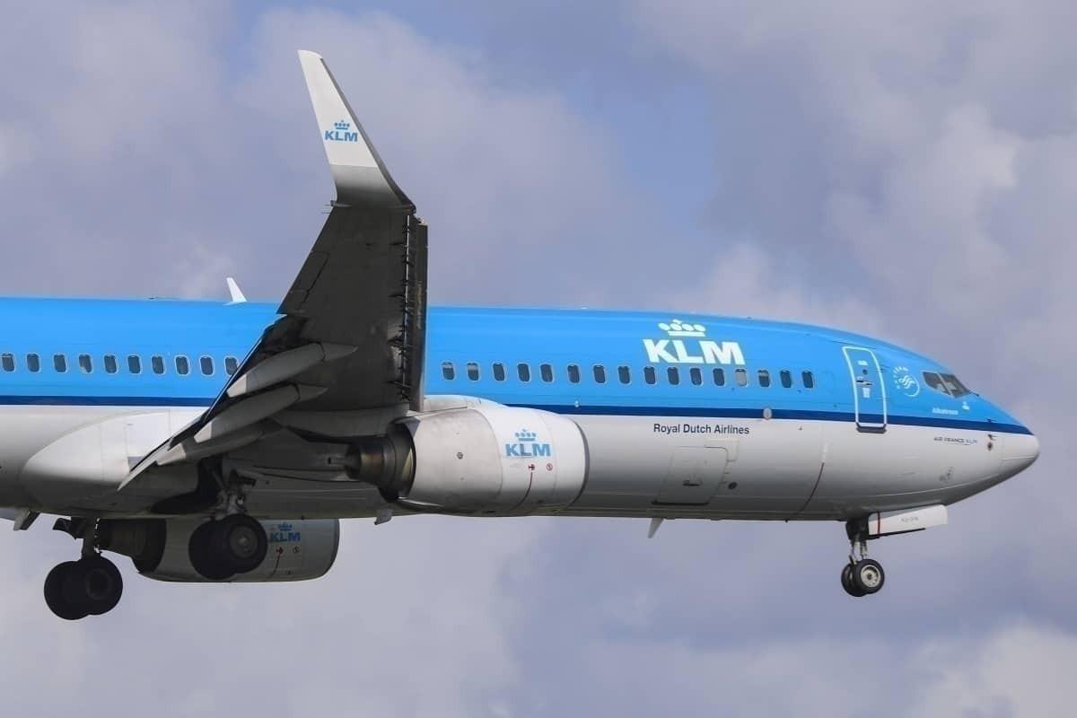 KLM in flight