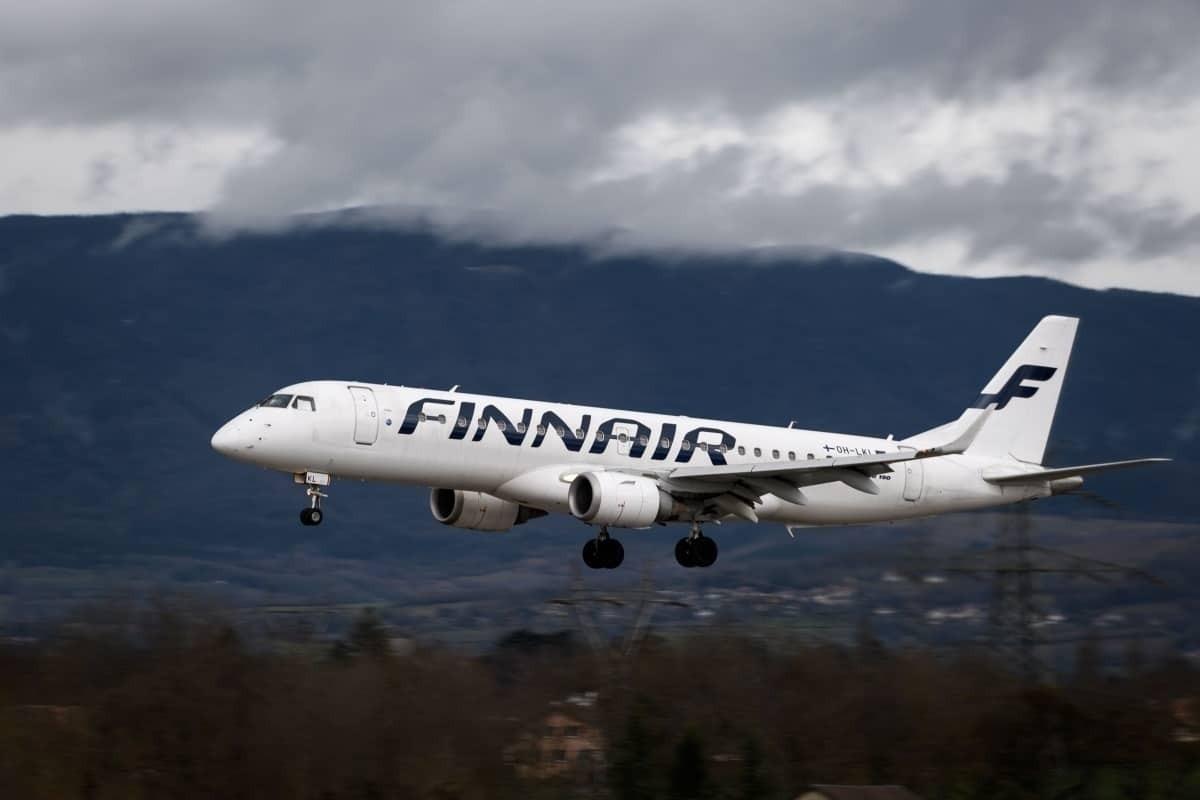 Finnair in flight