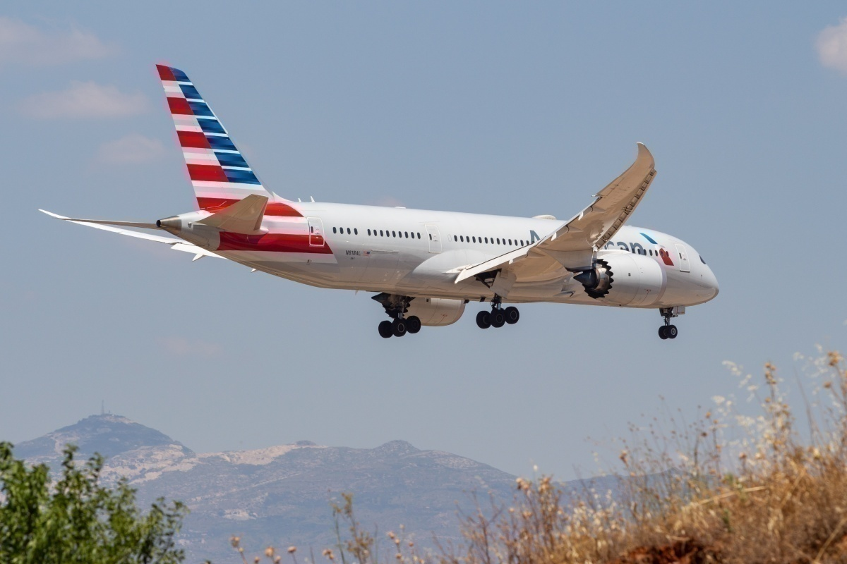 American Airlines in flight