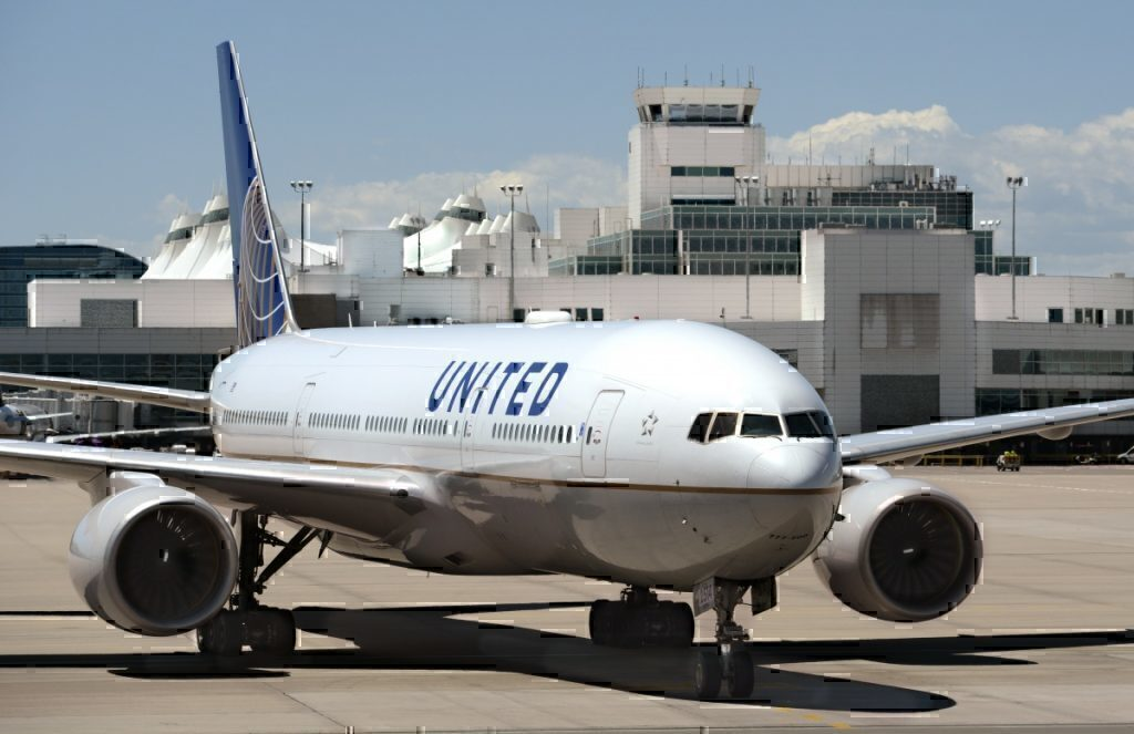 United plane runway getty images