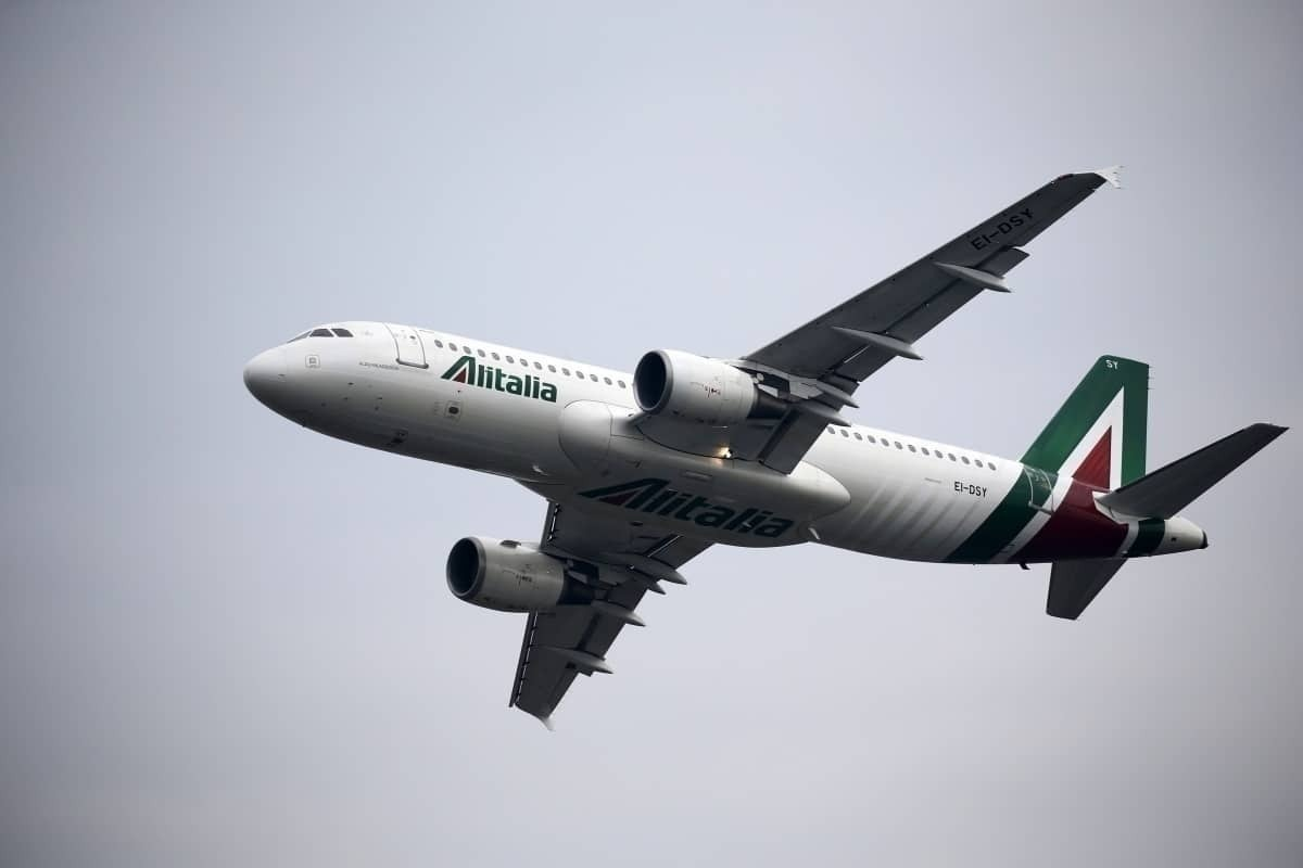 Alitalia in flight