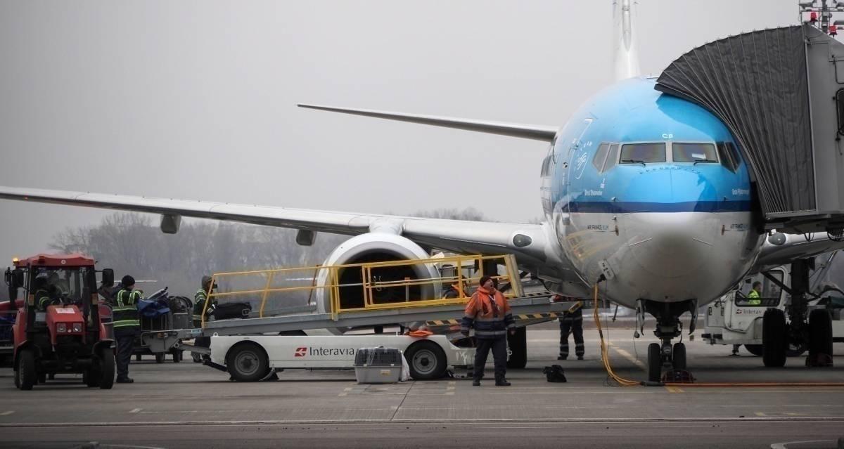 KLM at gate
