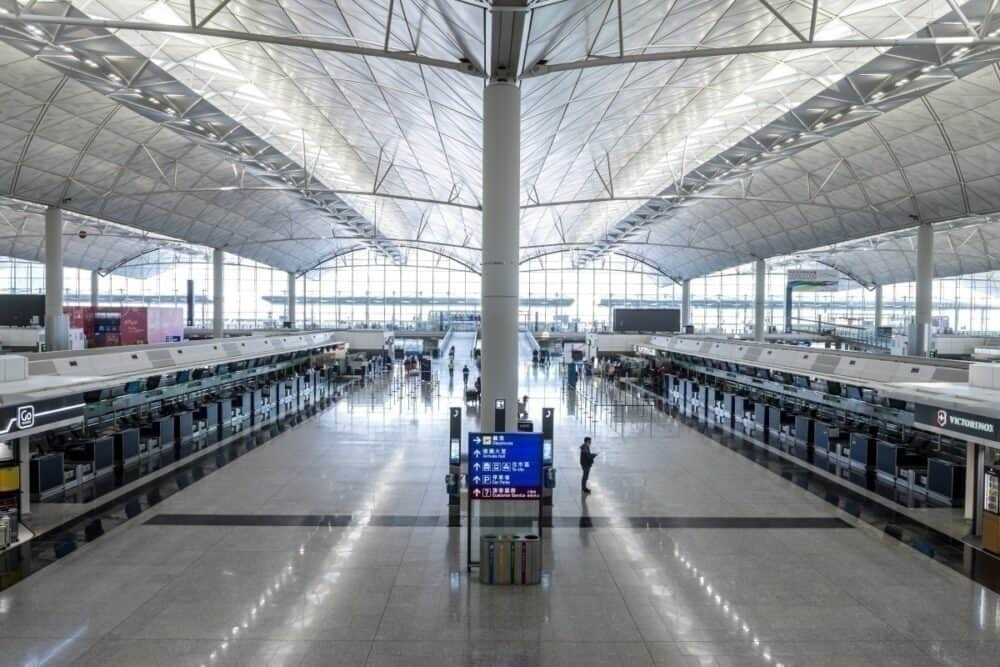 hong kong airport empty coronavirus getty images