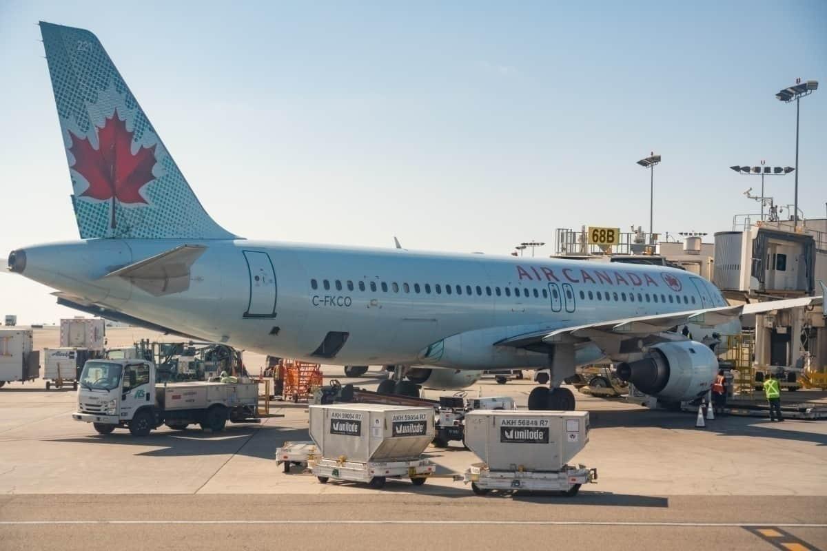 Air Canada at gate