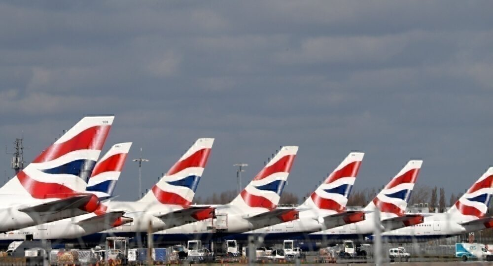 British Airways jets at Heathrow Airport