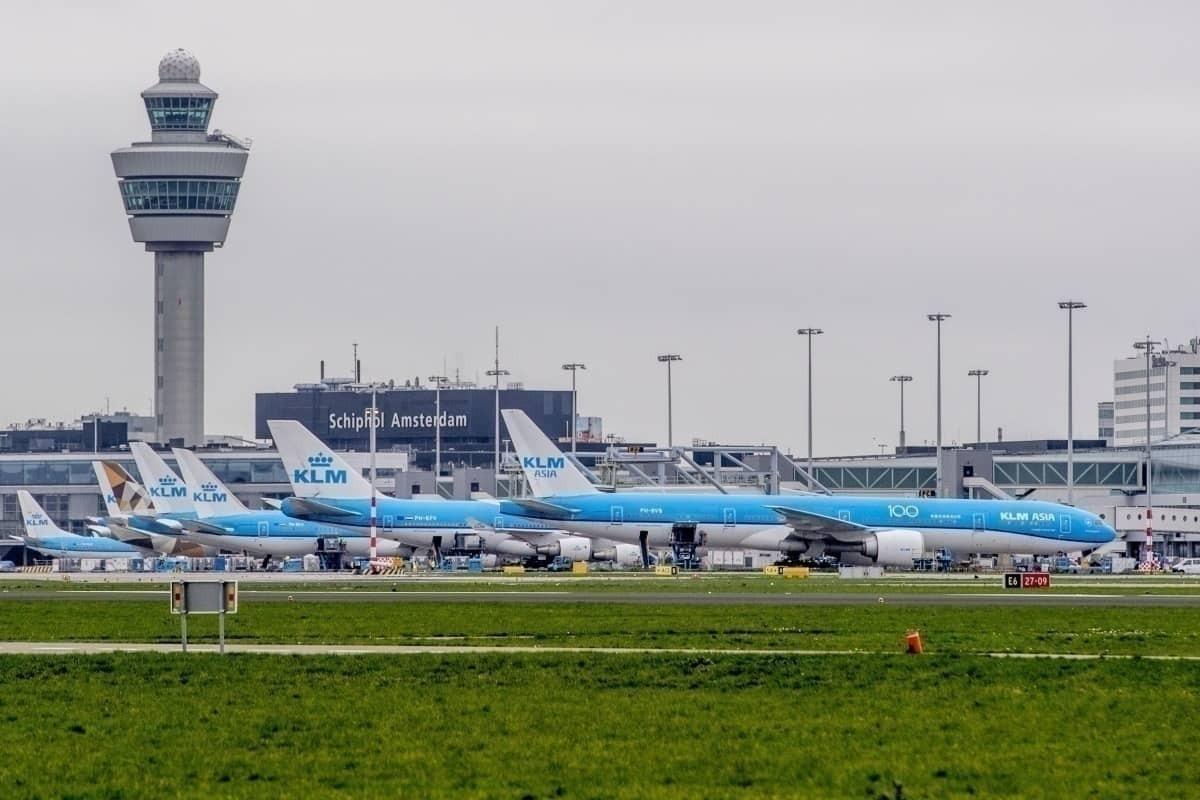 KLM grounded coronavirus