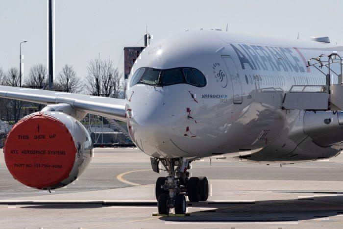 coronavirus air france A350