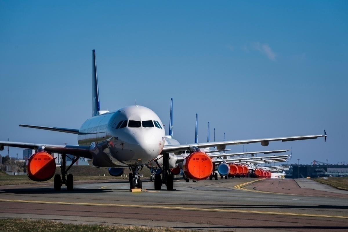 Parked SAS aircraft