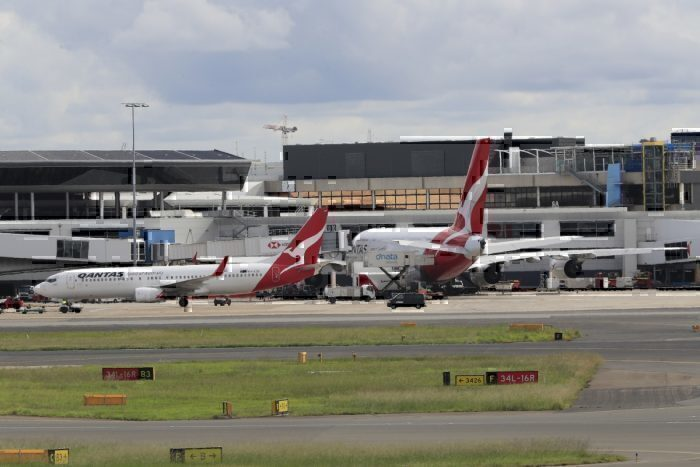 planes parked at sydney airport getty images