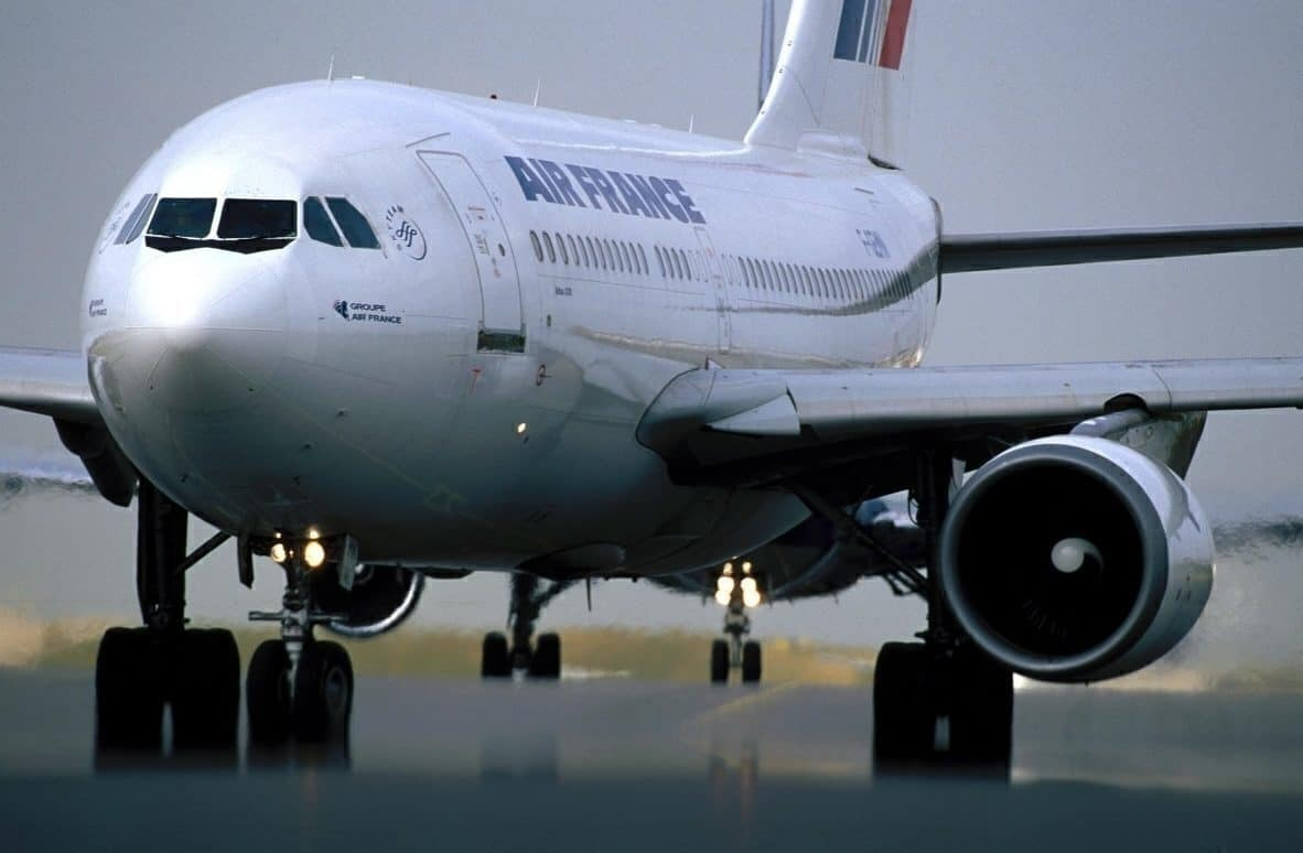 Air France on runway