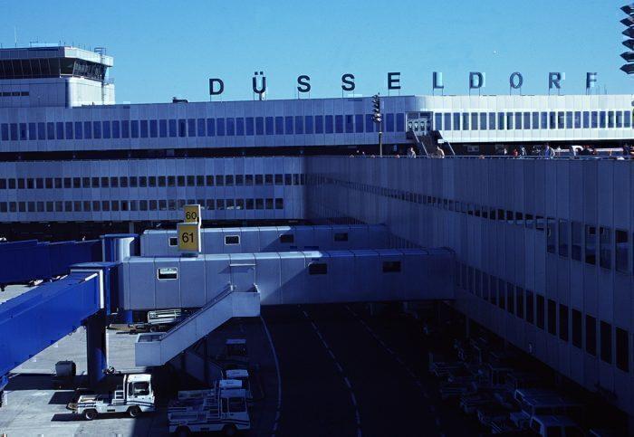 Dusseldorf airport sign
