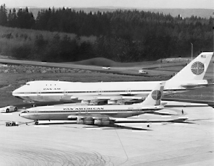 Pan Am Boeing 707 and 747