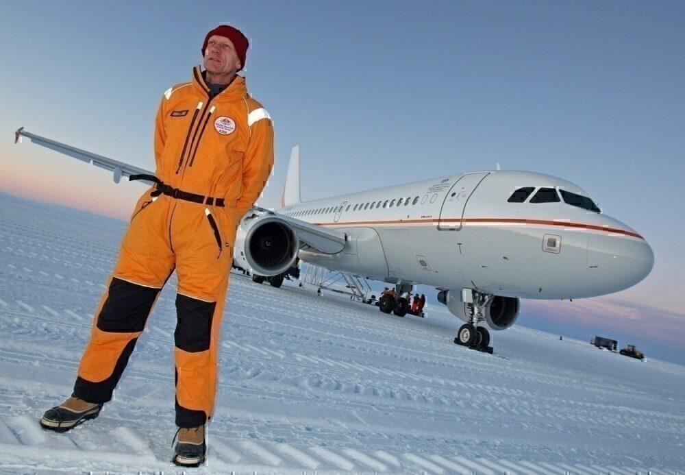 Blue ice runway antarctica