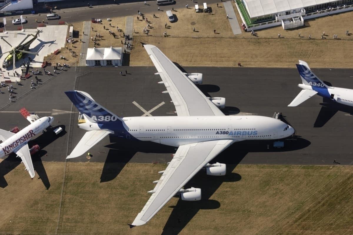 A380 aerial view