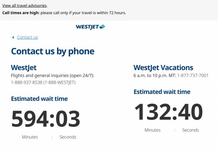 WestJet Experiences 10 Hour Call Centre Wait Times Amid Coronavirus Panic