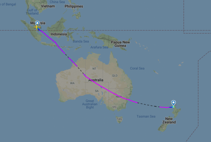 Everyone Upgraded On Air New Zealand Flight With 4 Passengers