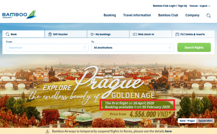 Bamboo Airways, Europe Delay, Prague