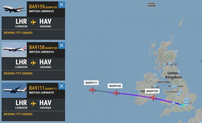 British Airways, Boeing 777, Havana