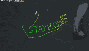 Stay Home Flight path