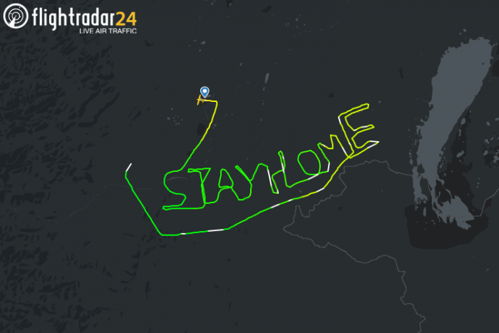 Stay Home Flight path