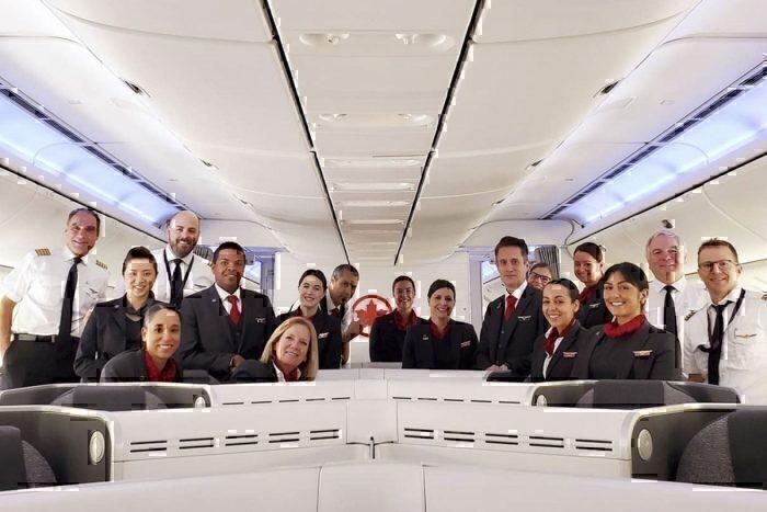 Air Canada crew
