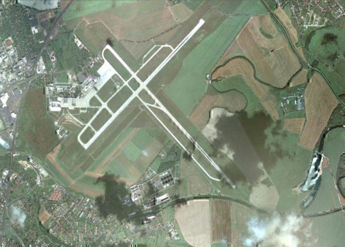 Bratislava airport runways