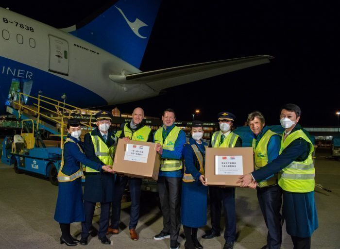 KLM CEO and other health officials accept China's package