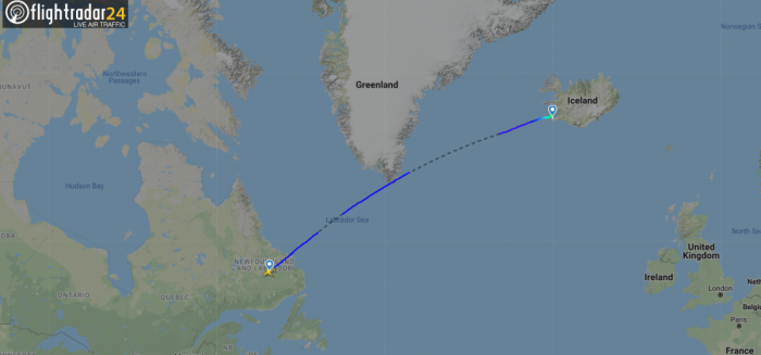 Goose Bay to Iceland
