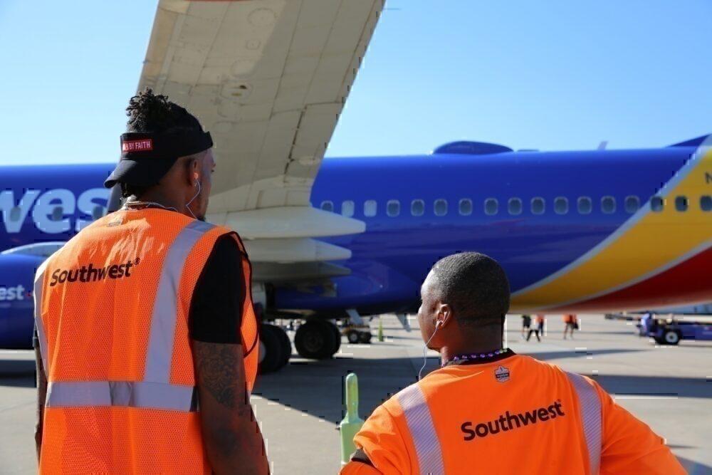 maintenance under southwest wing