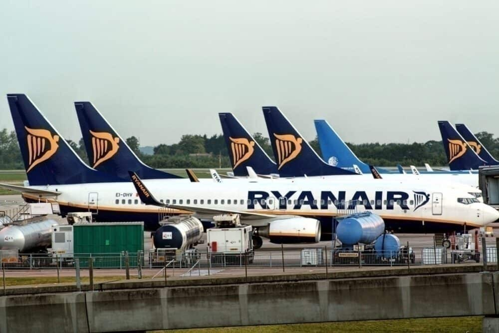Parked Ryanair Aircraft