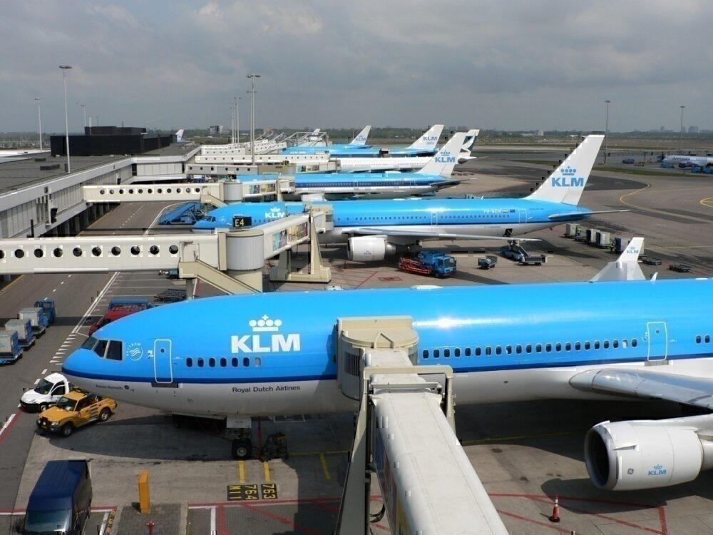 KLM Planes at terminal