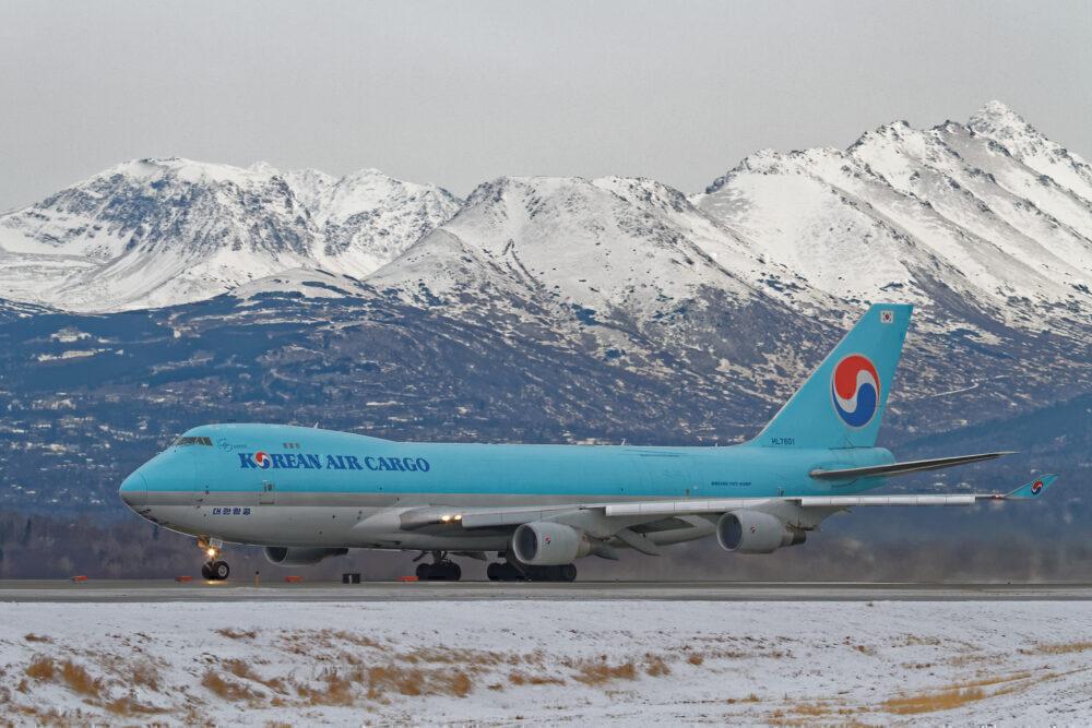 Korean Air Boeing 747 Anchorage