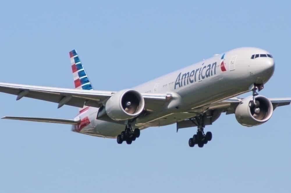 American 777-300 cargo flight