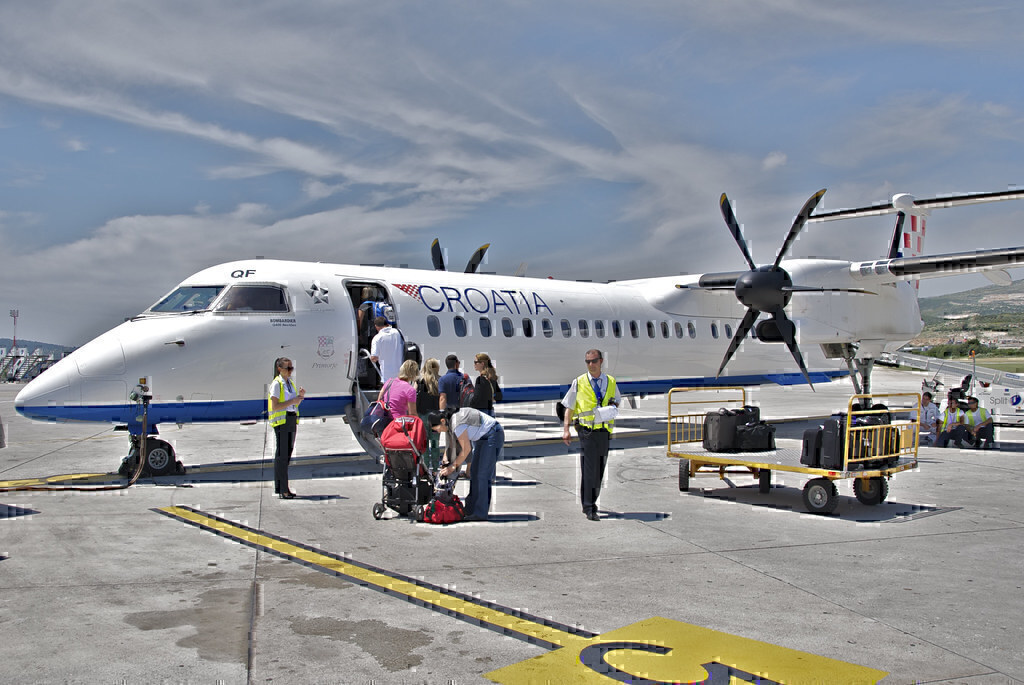 Croatia Airlines reduced network Dash 8-400