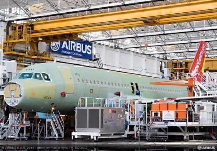 A320 being built