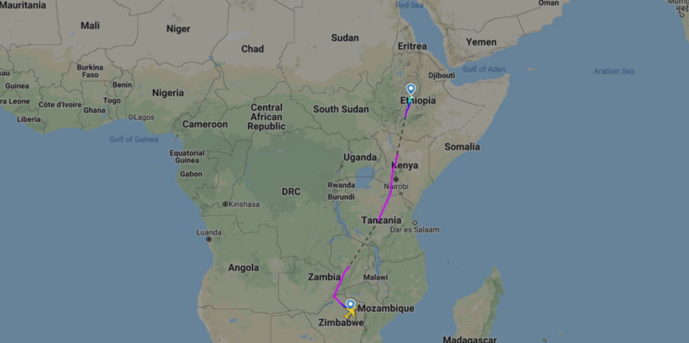 Air Zimbabwe Flies Boeing 777 To Maintenance After 3 Months On The Ground