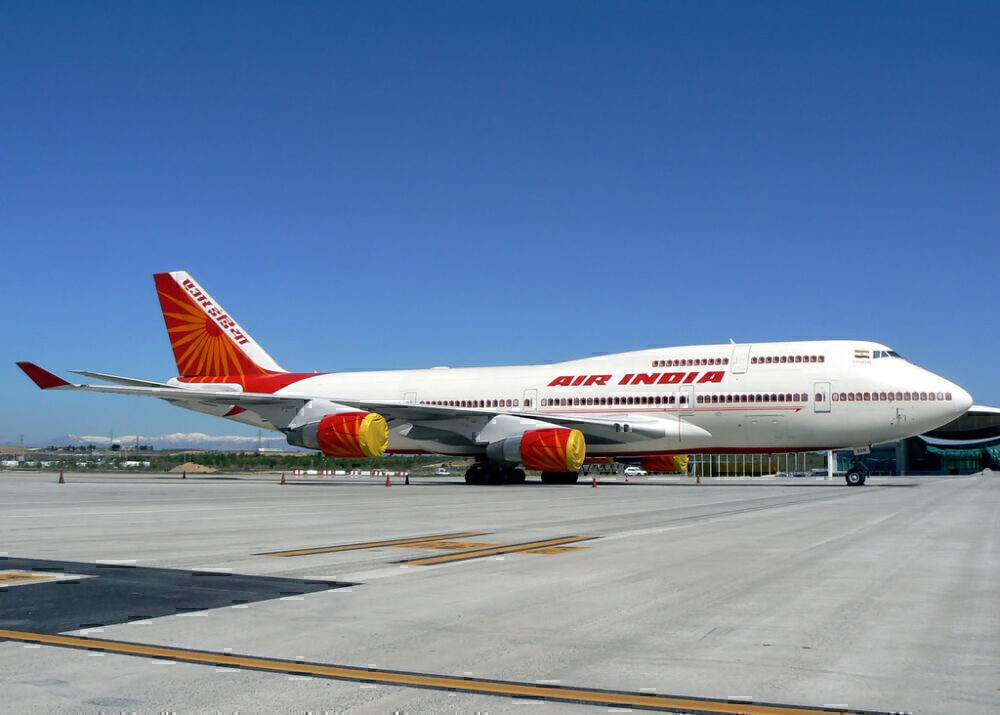 Air India 747 Parked