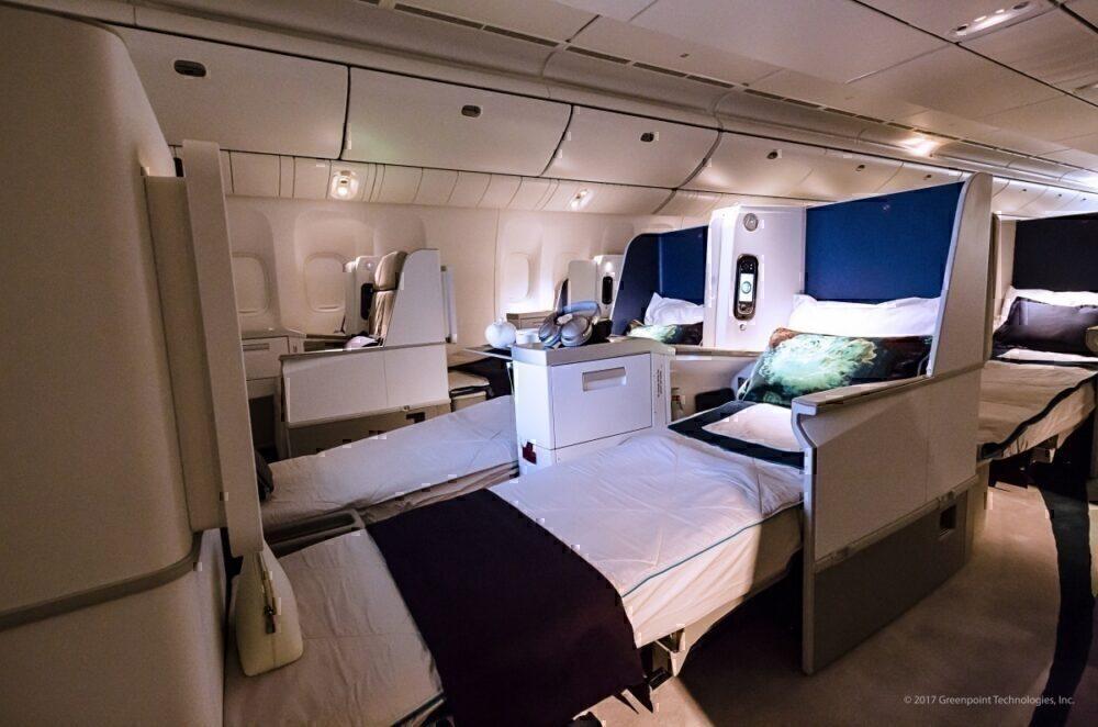 business class lie flat seats 777-200LR private