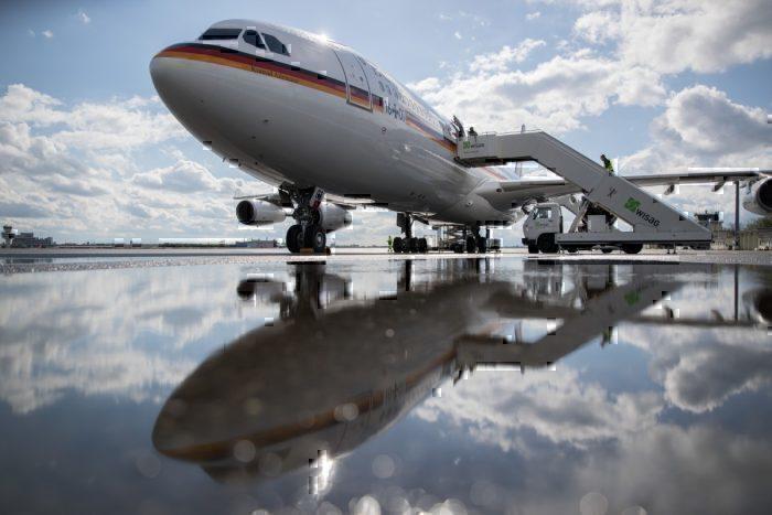 german chancellor plane getty images