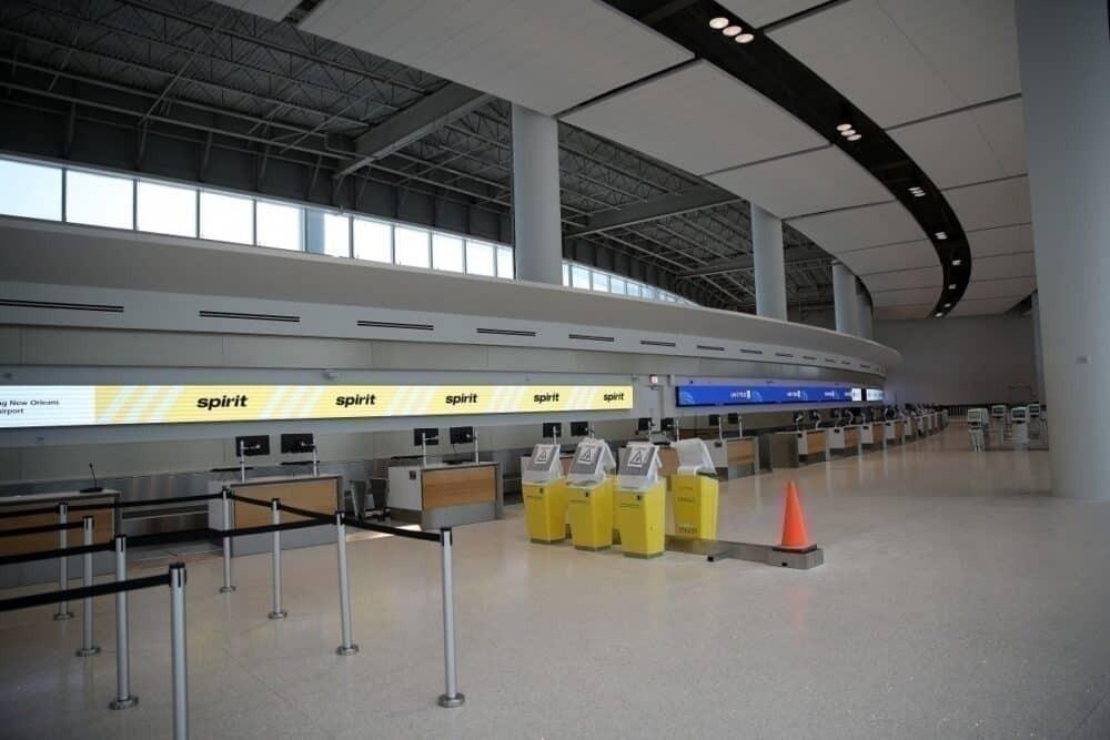 Spirit Airlines ticket counter