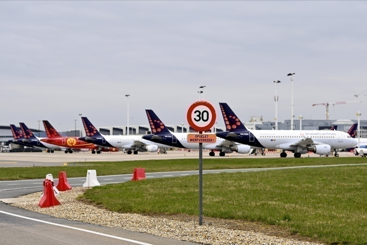 Parked Brussels Airlines aircraft