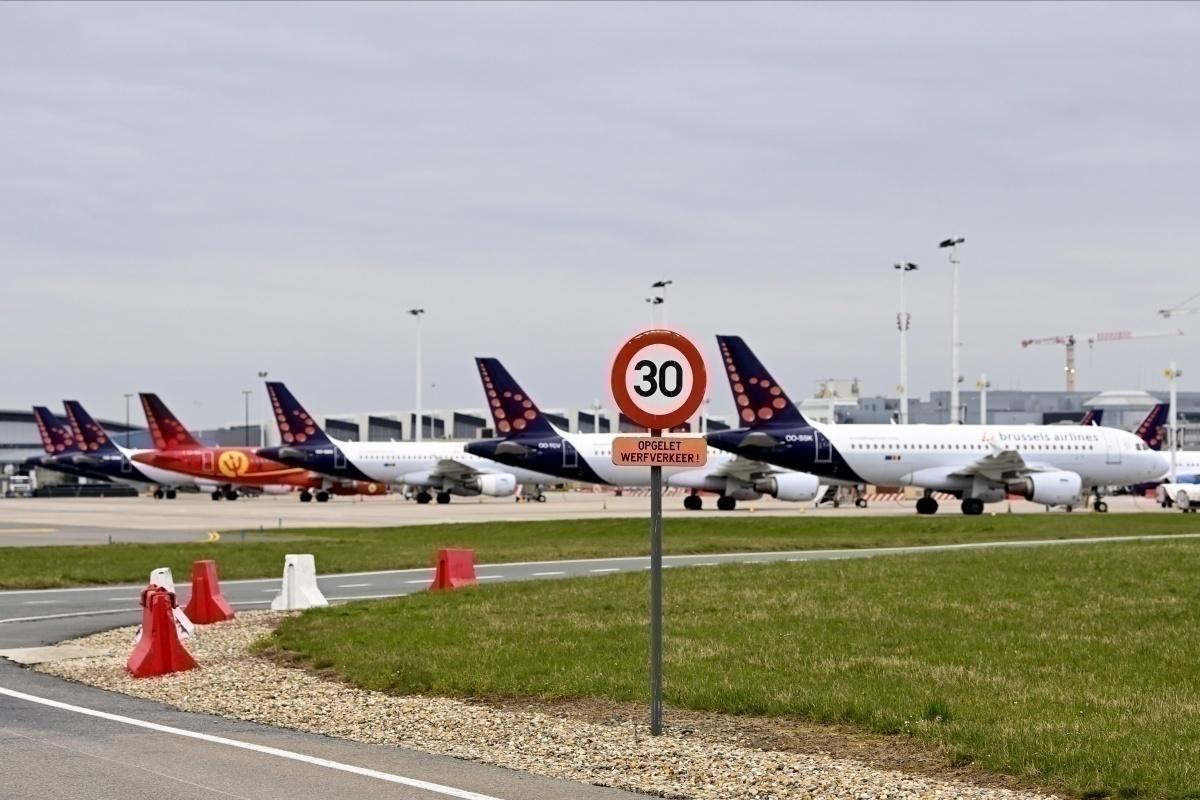 Avion de Brussels Airlines en stationnement
